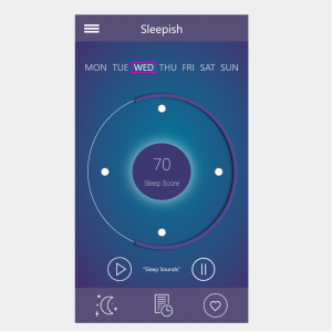 InsaSleepish-Mobile App Screen Design